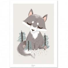 Affiche A4 les Animignons le loup