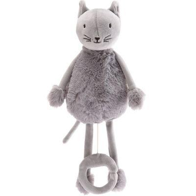 Peluche musicale Les doux Bidous Oscar le chat (28 cm)  par Pioupiou et Merveilles