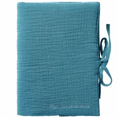 Protège carnet de santé vert paon Mix & Match
