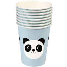 Lot de 8 gobelets en carton Miko le panda