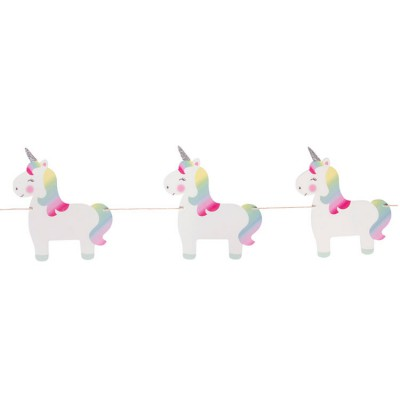 Guirlande Betty la licorne arc-en-ciel