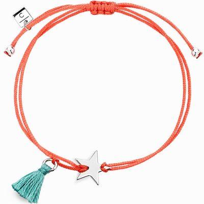 Bracelet cordon corail Mini Coquine étoile (argent 925°)  par Coquine