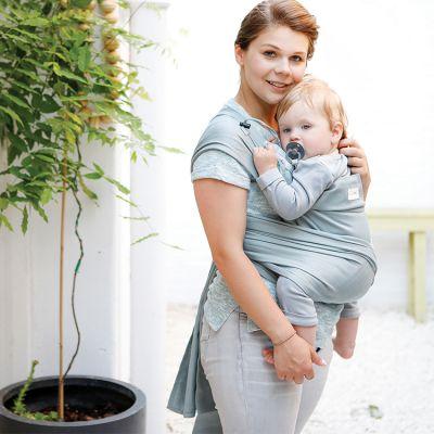Porte bébé chinois BB-Tai coton bio grey violet  par Babylonia carriers