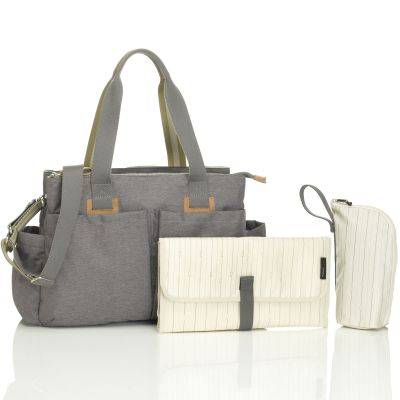 Sac à langer de voyage Shoulder Bag gris  par Storksak