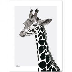 Affiche la girafe (30 x 40 cm)