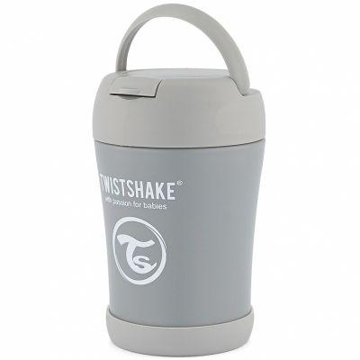 Thermos alimentaire gris pastel (350 ml)  par Twistshake
