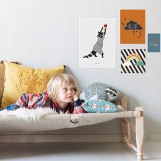 Lot de 4 petites affiches Hello (10 x 15 à 40 x 30 cm)