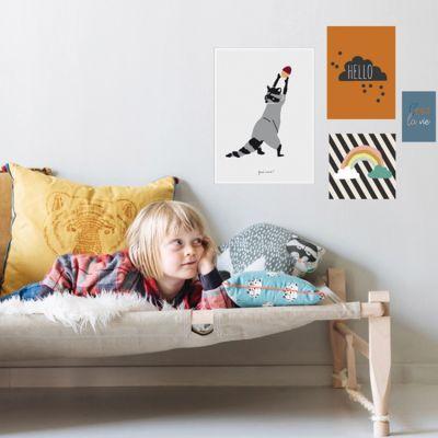 Lot de 4 petites affiches Hello (10 x 15 à 40 x 30 cm)  par Mimi'lou