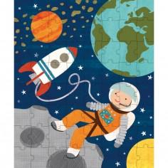 Puzzle astronaute dans l'espace (64 pièces)