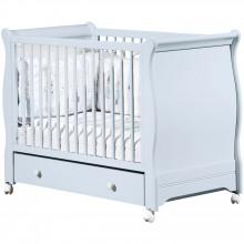 lit barreaux elodie bleu avec son tiroir 60 x 120 cm par sauthon signature. Black Bedroom Furniture Sets. Home Design Ideas