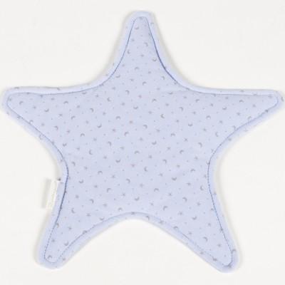 Doudou plat Elodie étoile bleu clair (32 x 32 cm) Pasito a pasito