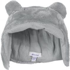 Bonnet fourrure polaire gris (tour de tête : 39 cm)