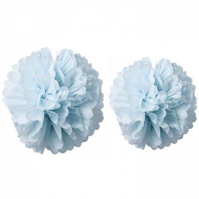 Pompons papier de soie bleu ciel (2 pièces)  par Arty Fêtes Factory