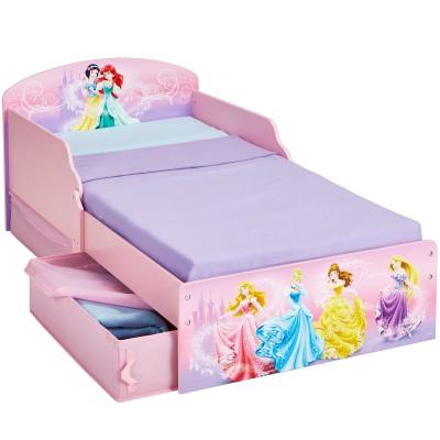Lit enfant princesses avec rangements 70 x 140 cm - Lit enfant rangements ...