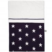 Housse de couette Star bleu marine et blanc (100 x 135 cm) - Baby's Only