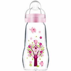 Biberon verre Opaque & Quarz Rose arbre et oiseaux - débit 2 moyen (260 ml)