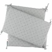 Tour de lit gris clair Mix et Match (pour lits 60 x 120 cm ou 70 x 140 cm) - Noukie's