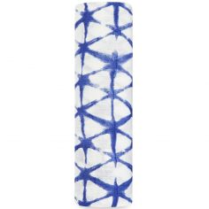 Maxi lange Silky Soft Cubic indigo (120 x 120 cm)