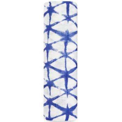 Maxi lange Silky Soft Cubic indigo (120 x 120 cm) aden + anais