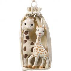 Coffret cadeau peluche et hochet Sophie la girafe Fresh Touch