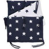 Tour de lit Star bleu marine et blanc (pour lit 60 x 120 cm) - Baby's Only