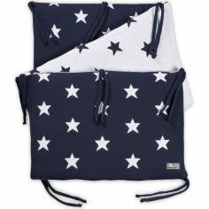 Tour de lit Star bleu marine et blanc (pour lit 60 x 120 cm)