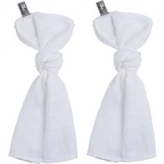 Lot de 2 langes blancs (60 x 70 cm)