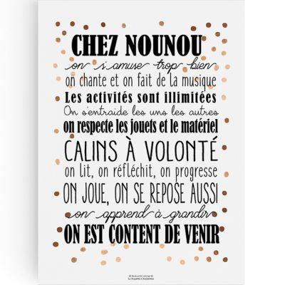Affiche Chez Nounou (A4)  par La Poupette à paillettes