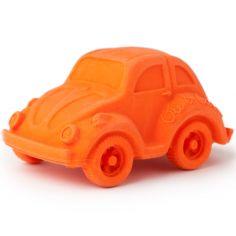 Petite voiture Coccinelle latex d'hévéa orange