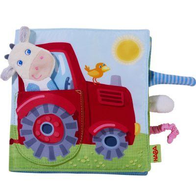 Livre bébé d'activités + marionnette à doigt La ferme Haba