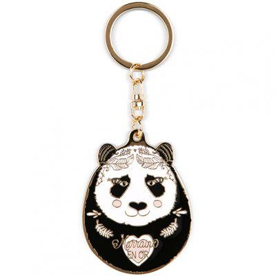 Porte clé panda Marraine en or  par Créa Bisontine
