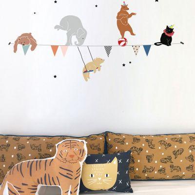 Stickers guirlande cirque (88 x 35 cm)  par Mimi'lou