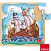 Puzzle Bateau pirate (25 pièces) - Goula