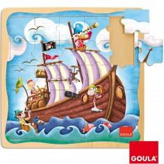 Puzzle Bateau pirate (25 pièces)