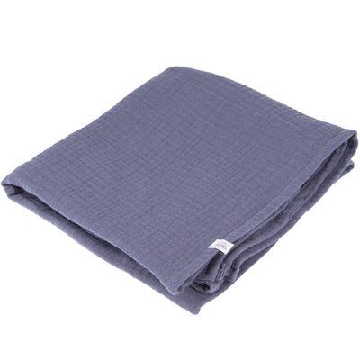 Lange en coton bleu blueberry (90 x 90 cm) BEBEL