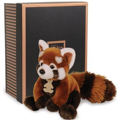 Coffret peluche panda roux Prestige (20 cm)  par Histoire d'Ours