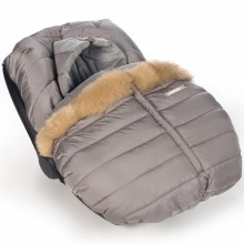 Chancelière hiver pour siège auto groupe 0 marron glacé Aspen   par Pasito a pasito