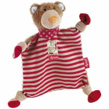 Doudou plat ours rouge Wild and Berry Bears (25 cm)  par Sigikid