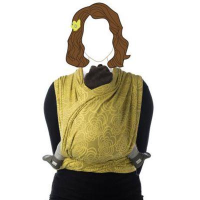 Echarpe de portage BB-Slen Jacquard coton bio marigold (4,9 mètres)  par Babylonia carriers