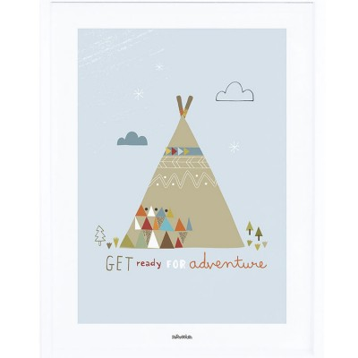 Affiche encadrée tipi indien (30 x 40 cm)  par Lilipinso