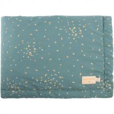 Mini couverture bébé Laponia Gold Confetti Vert (70 x 70 cm)