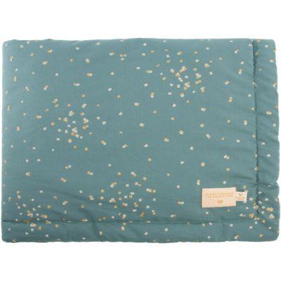Mini couverture bébé Laponia Gold Confetti Vert (70 x 70 cm)  par Nobodinoz