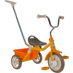 Tricycle Passenger avec panier arrière amovible orange