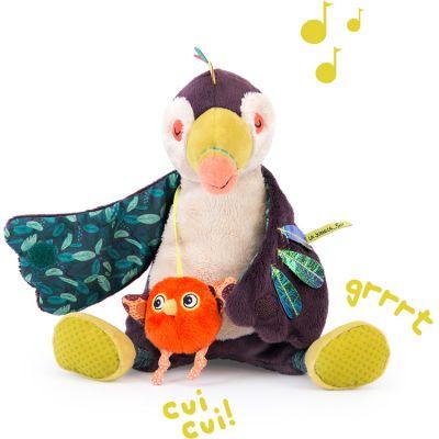 Peluche musicale Pakou le toucan Dans la Jungle (21 cm)  par Moulin Roty