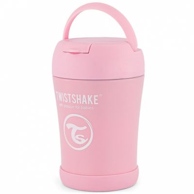 Thermos alimentaire rose pastel (350 ml)  par Twistshake