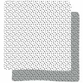 Lot de 2 maxi langes Happy Dots gris (120 x 120 cm) - Done by Deer