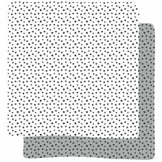 Lot de 2 maxi langes Happy Dots gris (120 x 120 cm)
