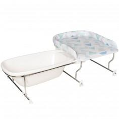 table langer avec support baignoire varix prisme. Black Bedroom Furniture Sets. Home Design Ideas
