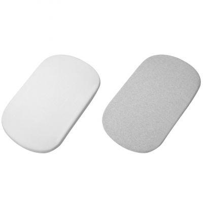 Lot de 2 draps housse pour berceau cododo Iora blanc et gris  par Bébé Confort