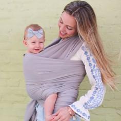 Echarpe de portage Boba Wrap bambou gris clair